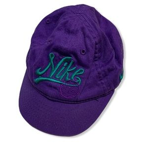 Nike toddler purple green vintage hat unisex